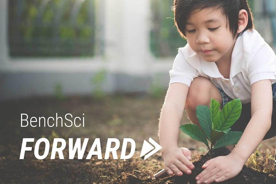 BenchSci Forward Boy in Garden